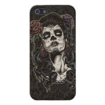 Día del color muerto de la mujer iPhone 5 protectores