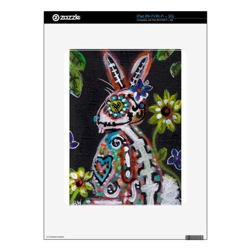 Día del conejito muerto calcomanías para el iPad