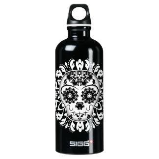 Día del cráneo el   del azúcar de los muertos botella de agua