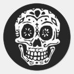 Día del cráneo muerto 2 pegatina redonda