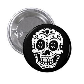 Día del cráneo muerto 2 pin redondo 2,5 cm