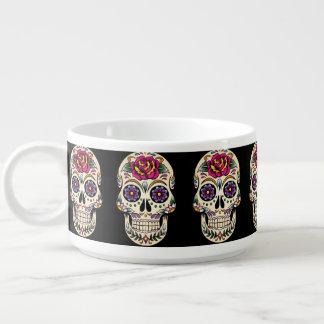 Día del cráneo muerto con el rosa tazón
