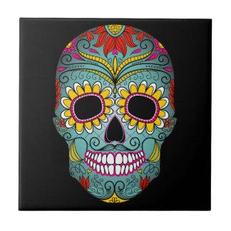 Día del cráneo muerto del azúcar azulejos cerámicos