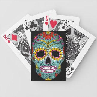 Día del cráneo muerto del azúcar barajas de cartas