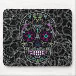 Día del cráneo muerto del azúcar - colorido negro mousepad
