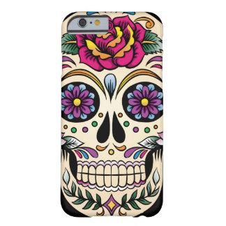 Día del cráneo muerto del azúcar con el rosa funda para iPhone 6 barely there