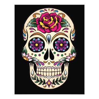Día del cráneo muerto del azúcar con el rosa impresiones fotograficas