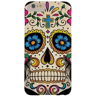 Día del cráneo muerto del azúcar con la cruz funda de iPhone 6 plus barely there