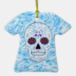 Día del cráneo muerto del azúcar - fractal de los ornamento de navidad