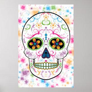 Día del cráneo muerto del azúcar - multicolor bril impresiones