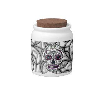 Día del cráneo muerto del azúcar - multicolor de S Jarras Para Caramelos