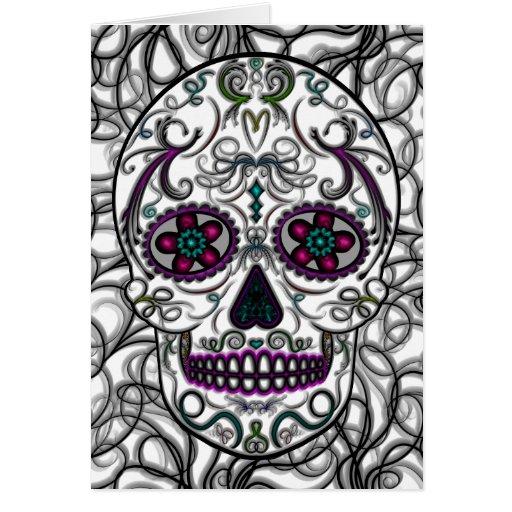 Día del cráneo muerto del azúcar - multicolor de S Felicitaciones