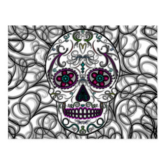 Día del cráneo muerto del azúcar - multicolor de S Postal