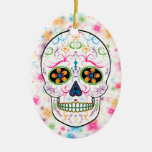 Día del cráneo muerto del azúcar - multicolor adorno de navidad