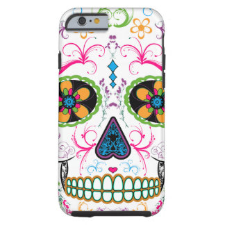 Día del cráneo muerto del azúcar - multicolor funda de iPhone 6 tough
