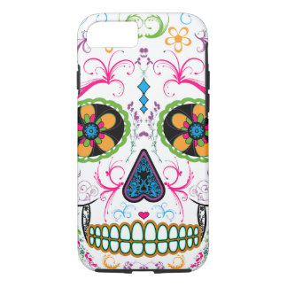 Día del cráneo muerto del azúcar - multicolor funda iPhone 7