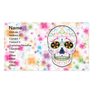 Día del cráneo muerto del azúcar - multicolor tarjetas de visita
