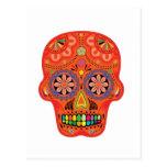 Día del cráneo muerto del azúcar postal