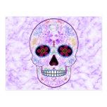 Día del cráneo muerto del azúcar - púrpura y multi postales