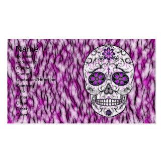 Día del cráneo muerto del azúcar - rosado y de la tarjetas de visita