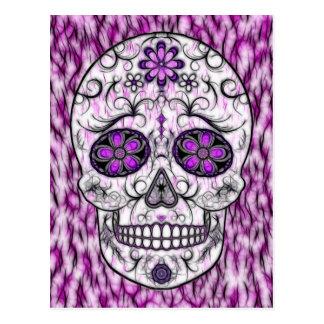 Día del cráneo muerto del azúcar - rosado y de la  postal