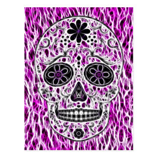 Día del cráneo muerto del azúcar - rosado y de la tarjeta postal