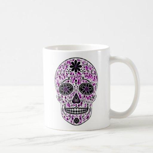 Día del cráneo muerto del azúcar - rosado y de la  tazas