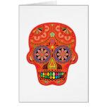 Día del cráneo muerto del azúcar tarjeta de felicitación