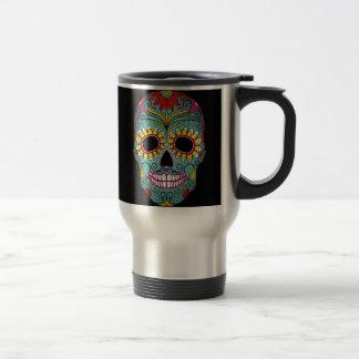 Día del cráneo muerto del azúcar taza de café