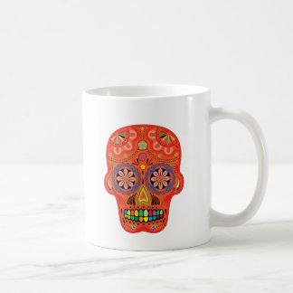Día del cráneo muerto del azúcar tazas