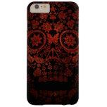Día del cráneo muerto funda de iPhone 6 plus barely there