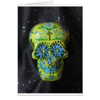 """Día del cráneo muerto """"Howard """" del azúcar Tarjeta De Felicitación"""
