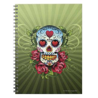Día del cráneo muerto libros de apuntes con espiral