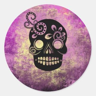 Día del cráneo muerto pegatina redonda