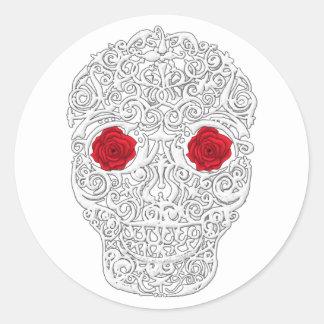 Día del cráneo muerto pegatinas redondas