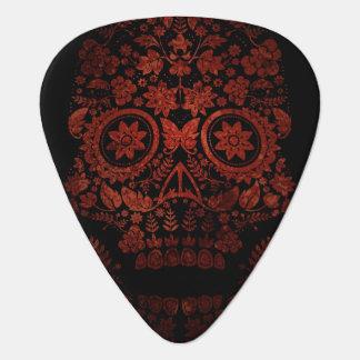 Día del cráneo muerto púa de guitarra