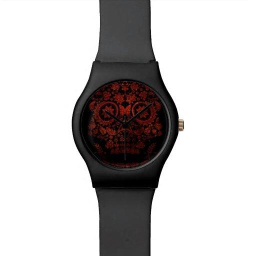 Día del cráneo muerto relojes de mano