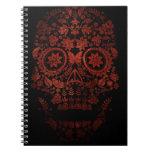 Día del cráneo muerto spiral notebooks
