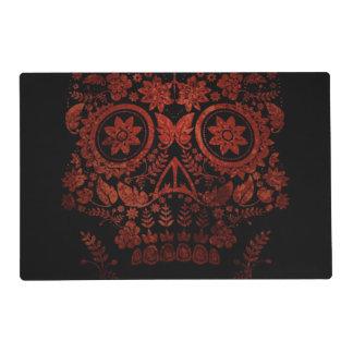 Día del cráneo muerto tapete individual