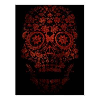 Día del cráneo muerto postales