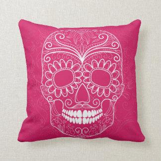 Día del cráneo rosado muerto almohadas