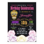 Día del cumpleaños de la invitación muerta del
