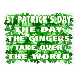 Día del Día- del St Patricks los jengibres asumen Postales