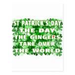 Día del Día- del St Patricks los jengibres asumen Postal