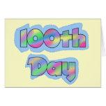 Día del efecto del arco iris 100o de camisetas de  tarjeta