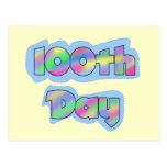 Día del efecto del arco iris 100o de camisetas de  postal