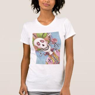 Día del esqueleto muerto con la camiseta color de