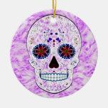 Día del fractal Cráneo-Púrpura y multi muerto del Adorno Para Reyes
