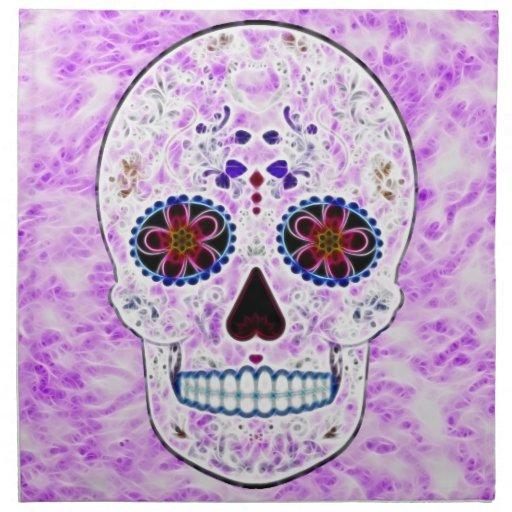 Día del fractal Cráneo-Púrpura y multi muerto del  Servilleta De Papel