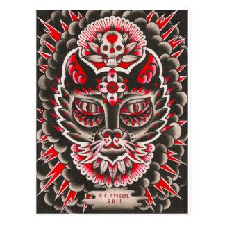 Día del gato muerto tarjeta postal